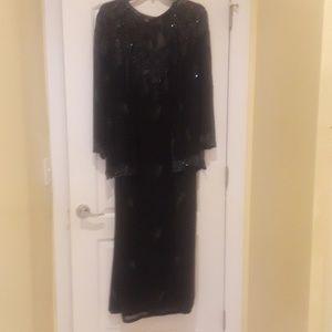 Elegant evening dress and jacket